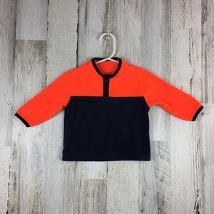 OshKosh   Navy Blue & Orange Fleece Pullover